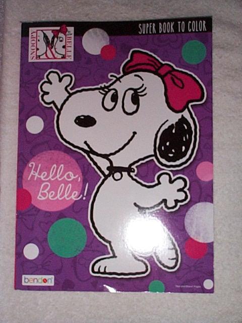 hello belle - Peanuts Coloring Book