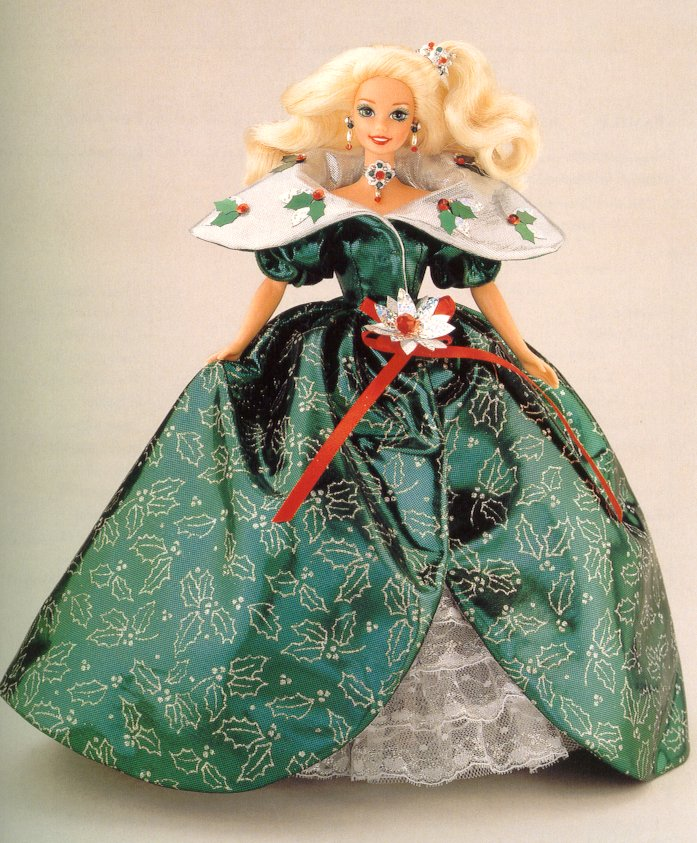 1995 happy holidays mattel special edition christmas barbie doll.
